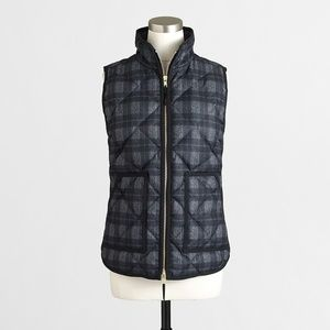 NWT Jcrew plaid quilted puffer vest
